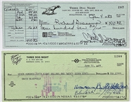 """Three Dog Night"" Band Checks (2) Signed by Vocalists Danny Hutton, Cory Wells, and Chuck Negron and Written to Band Members"