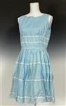 Marilyn Monroe Owned Custom Made Blue Sun Dress Gifted to Her Personal Secretary May Reis