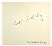 Coretta Scott King Signed Autograph Book Page – Wife of the Reverend Martin Luther King