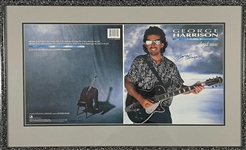 George Harrison Signed Uncut Press Sheet for the Cover of His 1987 LP <em>Cloud Nine</em>