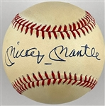 "Mickey Mantle Single Signed Baseball - OAL ""Bobby Brown"" Baseball"
