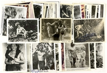 Extensive <em>Tarzan</em> Studio Issued Photo Collection with Johnny Weissmuller, Gordon Scott, Lex Barker and Others (54 Pieces)