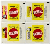 1963 Topps Baseball Wrapper Collection of Four – Musial, Bazooka, Pennant and Album Variations