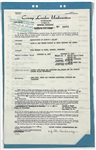 Elvis Presleys 1967 Car Insurance Policy Listing All of his Cars!