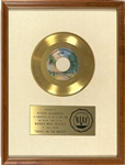 "RIAA Gold Record Award for Deep Purples 1973 Single ""Smoke on the Water"" - ""To Richie Blackmore"" Certified in 1973 White Linen Matte Style"