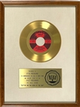 "RIAA Gold Record Award for Otis Reddings 1968 Single ""(Sittin On) The Dock of the Bay"" - Certified in 1968 White Linen Matte Style"