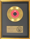 "RIAA Gold Record Award for Queens 1979 Single ""Crazy Little Thing Called Love"" - ""Presented to Freddie Mercury"" Certified in 1980"