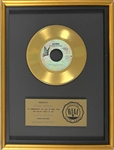 "RIAA Gold Record Award for Queens 1975 Single ""Bohemian Rhapsody"" - ""Presented to Freddie Mercury"" Certified in 1976"