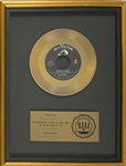 "RIAA Gold Record Award for Elvis Presleys 1962 Single ""Return to Sender"" - ""Presented to Elvis Presley"" Certified in 1983"