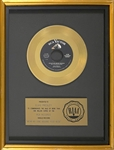 "RIAA Gold Record Award for Elvis Presleys 1958 Single ""Wear My Ring Around Your Neck"" - ""Presented to Elvis Presley"" Certified in 1983"