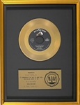 "RIAA Gold Record Award for Elvis Presleys 1959 Single ""A Fool Such As I"" - ""Presented to Elvis Presley"" Certified in 1983"
