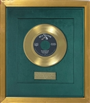 "1957 RCA Green Felt Gold Record Award to Colonel Tom Parker for Making Elvis Presley's ""All Shook Up"" A Million Seller"