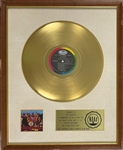 RIAA Gold Record Award for The Beatles 1967 LP <em>Sgt. Peppers Lonely Hearts Club Band</em> - Certified in 1967 - Early White Linen Matte Style
