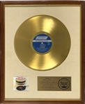 RIAA Gold Record Award for The Rolling Stones 1969 LP <em>Let It Bleed</em> - Certified in 1969 – Early White Linen Matte Style