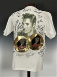"Pair of ""Elvis Cruise"" T-Shirts Signed by 22 of Elvis Presleys Bandmembers and Memphis Mafia"