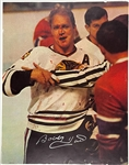 Bobby Hull Signed Poster – The Ultimate Oversized Example of the Famous Bloody Photo!
