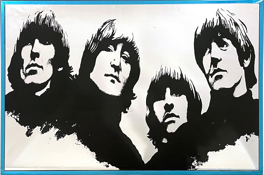 1970s Capitol Records Beatles <em>Rubber Soul</em> Promotional Mirror - Celebrating 10 Years of The Beatles in America