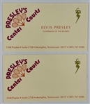 "1976 Elvis Presley ""Chairman of the Board"" Business Card and Brochure for ""Presley's Center Courts"""