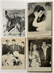 Group of Four Elvis Presley News Service Photos from His Army Service, Marriage and Divorce – Plus Newspaper Clippings to Match!
