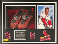 Hall of Famer Red Schoendienst Game Used Cleats - Worn as St. Louis Cardinals Coach - Former Burt Reynolds Collection