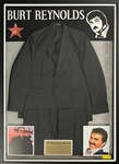 Burt Reynolds Black Western Suit in Beautiful Framed Display
