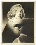 "Marilyn Monroe Signed 8 x 10 Photo - ""Keep Safe for Me..."" - Early Lazlo Willinger Glamour Shot"