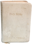 Elvis Presley Owned Bible Given to Him By Gary Pepper at 1957 Graceland Christmas Eve Party - With Graceland Authenticated LOA