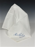 Elvis Presley White Stage Scarf with Blue Facsimile Signature – Former Jimmy Velvet Collection