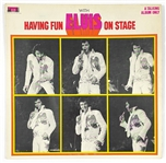 "1974 <em>Having Fun With Elvis on Stage</em> 33 1/3 RPM LP from Colonel Tom Parkers ""Boxcar Records"""