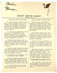 "1964 <em>Viva Las Vegas</em> Flamingo Hotel ""Daily Movie Diary"" Sheets (2) Alerting Guests to Hotel Locations in Use During Filming of the Elvis Presley Movie"