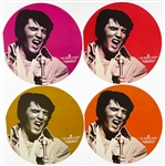 Four 1972 Las Vegas Hilton Elvis Presley Souvenir Menus (All Four Colors) - with Graceland Authenticated LOA
