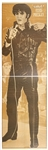 1976 French Magazine Life-Sized, Double-Sided Elvis Presley Poster - <em>Salut Les Copains</em>