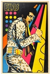"1975 Elvis Presley Neon ""Velvet"" Black Light Poster"