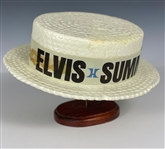 "Early 1970s ""Elvis Summer Festival / RCA / Hilton"" Styrofoam ""Straw"" Hat from his Las Vegas Concerts"