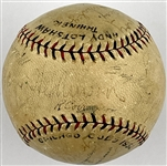 1932 Chicago Cubs National League Champion Team Signed Baseball – 20 Signatures Incl. Hartnett, Grimes and Herman
