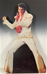 Huge 1973 Die-Cut Record Store Standee Promoting Elvis Presley's <em>Aloha from Hawaii Via Satellite</em> - A Rare Survivor