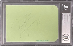 Freddie Mercury Signed Autograph Book Page - Encapsulated by Beckett Authentic