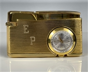 "Elvis Presley Owned ""EP"" Engraved Gold Lighter/Watch Combo - Gifted to His Cousin Patsy Presley"