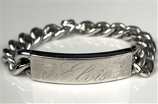 "Elvis Presley Owned ""ELVIS"" Silver ID Bracelet - Gifted to His Cousin Patsy Presley"