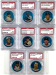 1965 Old London Coins Group of Eight PSA Graded Examples Including Mickey Mantle