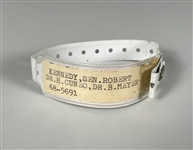 Senator Robert F. Kennedys Hospital Patient ID Wristband from the Day of His Assassination, June 5, 1968